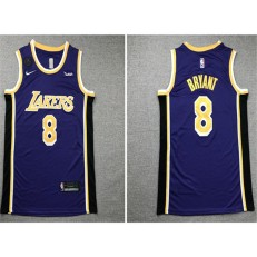 Los Angeles Lakers #8 Kobe Bryant Purple Nike KB Patch Swingman Jersey