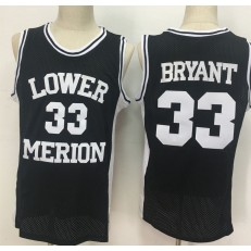 Lower Merion Aces #33 Kobe Bryant Black High School Mesh Basketball Jersey