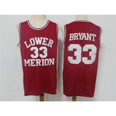 Lower Merion Aces #33 Kobe Bryant Red High School Basketball Jersey