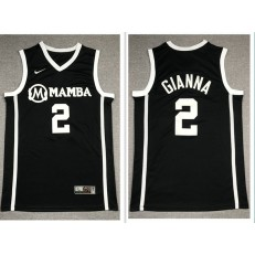 Mamba Gianna Maria #2 Black Kobe Bryant Daughter Stitched Basketball Jersey