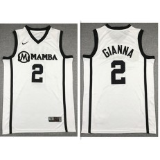 Mamba Gianna Maria #2 White Kobe Bryant Daughter Stitched Basketball Jersey