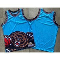 Memphis Grizzlies Big Face Blue Hardwood Classics Swingman Jersey