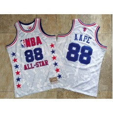 NBA #88 AAPE All Star White Hardwood Classics Jersey