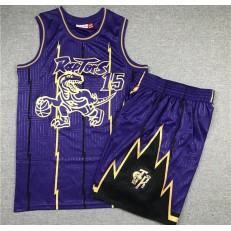 Toronto Raptors #15 Vince Carter Purple 1998-99 Hardwood Classics Jersey(With Shorts)