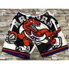 Toronto Raptors White Big Face With Pocket Swingman Shorts