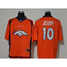 Denver Broncos #10 Jerry Jeudy Orange Vapor Untouchable Limited Nike NFL Men Jersey