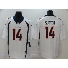 Denver Broncos #14 Courtland Sutton White Vapor Untouchable Limited Nike NFL Men Jersey
