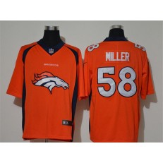 Denver Broncos #58 Von Miller Orange Vapor Untouchable Limited Nike NFL Men Jersey