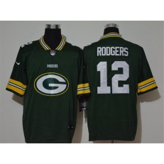 Green Bay Packers #12 Aaron Rodgers Green Vapor Untouchable Limited Nike NFL Men Jersey