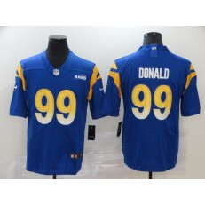 Los Angeles Rams #99 Aaron Donald Royal 2020 New Vapor Untouchable Limited Nike NFL Men Jersey