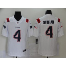 New England Patriots #4 Jarrett Stidham White 2020 New Vapor Untouchable Limited Nike NFL Men Jersey