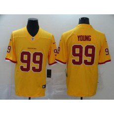 Washington Redskins #99 Chase Young Yellow 2020 NFL Draft First Round Pick Vapor Untouchable Limited Nike Men Jersey