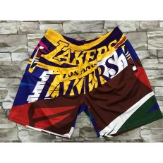 Los Angeles Lakers Color Big Face With Pocket Swingman Shorts