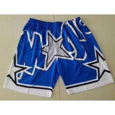 Orlando Magic Blue Big Face With Pocket Swingman Shorts
