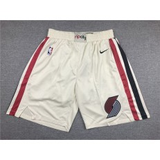 Portland Trail Blazers Cream 2019-20 Nike Swingman Shorts