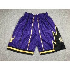 Toronto Raptors Purple Stitched Shorts