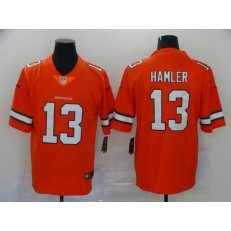 Denver Broncos #13 KJ Hamler Orange 2020 NFL Draft Color Rush Limited Nike Men Jersey