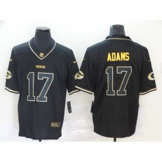 Green Bay Packers #17 Davante Adams Black Gold Vapor Untouchable Limited Nike NFL Men Jersey