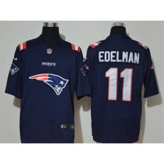 New England Patriots #11 Julian Edelman Navy Team Big Logo Vapor Untouchable Limited Nike NFL Men Jersey