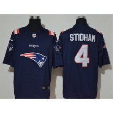 New England Patriots #4 Jarrett Stidham Navy Team Big Logo Vapor Untouchable Limited Nike NFL Men Jersey