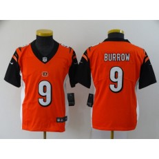 Youth Nike Cincinnati Bengals #9 Joe Burrow Orange 2020 NFL Draft First Round Pick Vapor Untouchable Limited Nike Men Jersey