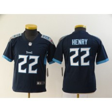 Youth Nike Tennessee Titans #22 Derrick Henry Navy New Vapor Untouchable Player Limited Jersey