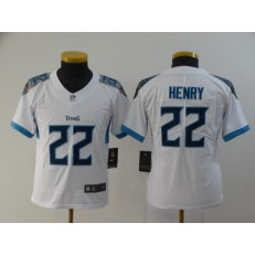 Youth Nike Tennessee Titans #22 Derrick Henry White New Vapor Untouchable Player Limited Jersey