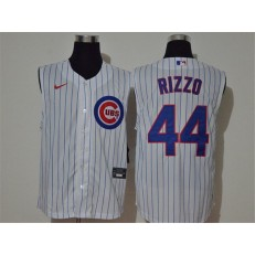 MLB Chicago Cubs #44 Anthony Rizzo White Nike Cool Base Sleeveless Jersey
