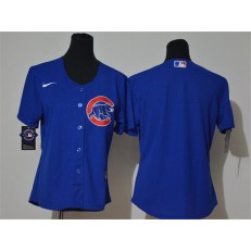 MLB Chicago Cubs Blank Royal Women Cool Base Jersey