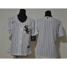 MLB Chicago White Sox Blank White Women Cool Base Jersey