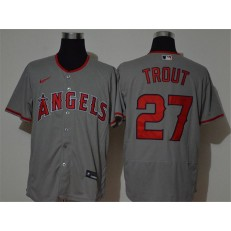 MLB Los Angeles Angels #27 Mike Trout Gray 2020 Nike Flexbase Jersey