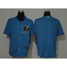 MLB Miami Marlins Blank Blue 2020 Nike Cool Base Jersey
