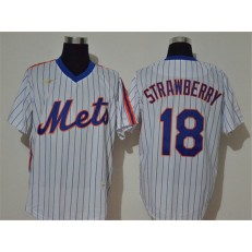 MLB New York Mets #18 Darryl Strawberry White 2020 Nike Cool Base Jersey