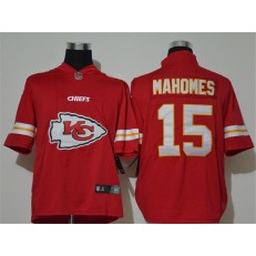 Kansas City Chiefs #15 Patrick Mahomes Red Team Big Logo Vapor Untouchable Limited Nike Men Jersey