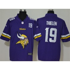 Minnesota Vikings #19 Adam Thielen Purple Team Big Logo Vapor Untouchable Limited Nike Men Jersey