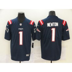 New England Patriots #1 Cam Newton Navy Vapor Untouchable Limited Nike Men Jersey