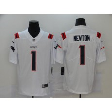 New England Patriots #1 Cam Newton White Vapor Untouchable Limited Nike Men Jersey