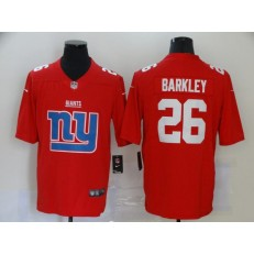New York Giants #26 Saquon Barkley Red Team Big Logo Vapor Untouchable Limited Nike Men Jersey