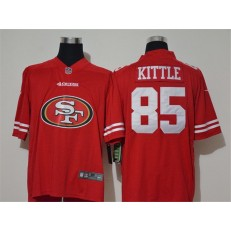 San Francisco 49ers #85 George Kittle Red Team Big Logo Vapor Untouchable Limited Nike Men Jersey