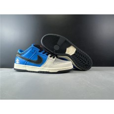 INSTANT SKATEBOARD x NIKE SB DUNK LOW BLUE BLACK WHITE CZ5128-400