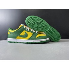 NIKE DUNK LOW SP BRAZIL VARSITY MAIZE PINE GREEN WHITE CU1727-700