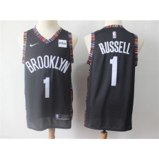 Brooklyn Nets #1 D'Angelo Russell Black City Edition Nike Swingman Jersey