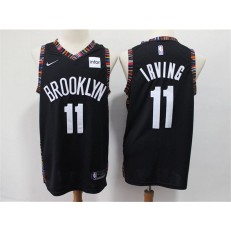 Brooklyn Nets #11 Kyrie Irving Black City Edition Nike Swingman Jersey