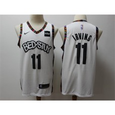 Brooklyn Nets #11 Kyrie Irving White 2019-20 City Edition Nike Swingman Jersey