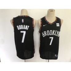 Brooklyn Nets #7 Kevin Durant Black City Edition Nike Swingman Jersey