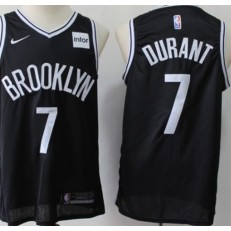 Brooklyn Nets #7 Kevin Durant Black Nike Swingman Jersey