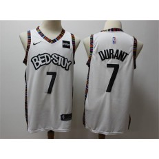 Brooklyn Nets #7 Kevin Durant White 2019-20 City Edition Nike Swingman Jersey
