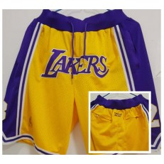 Los Angeles Lakers Yellow Just Don With Pocket Swingman Shorts