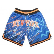 New York Knicks Blue With Pocket Swingman Shorts