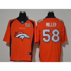 Denver Broncos #58 Von Miller Orange Team Big Logo Number Vapor Untouchable Limited Men Jersey